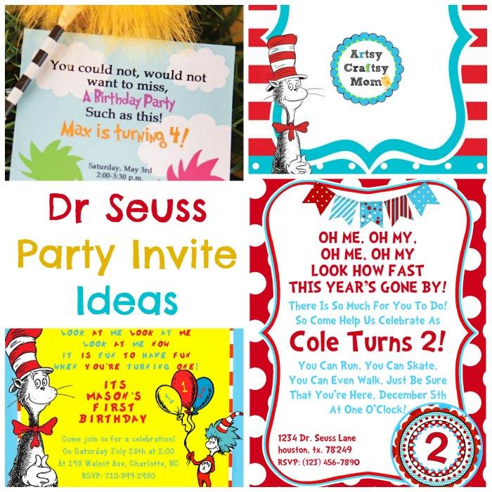 Dr Seuss Party Invite Ideas