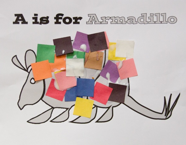 armadillo craft for toddlers
