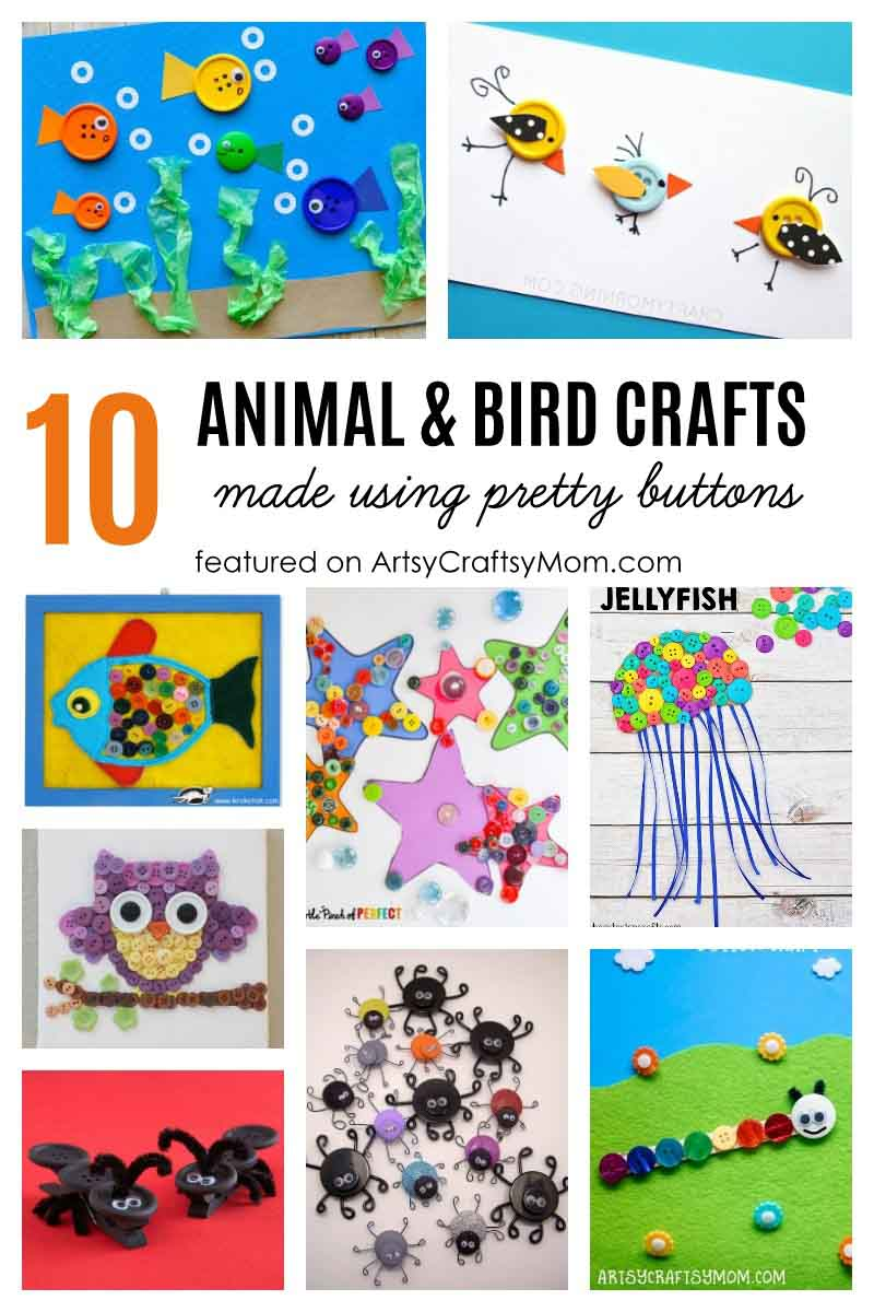 Here are 50+ Button craft ideas for kids of every age, season and holiday - that are Both Creative & Fun!