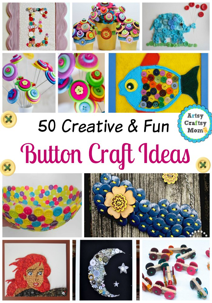 50 Creative And Fun Button Craft Ideas Artsy Craftsy Mom
