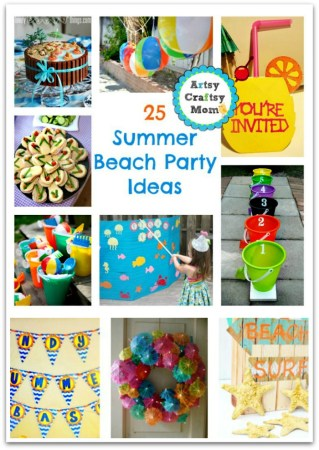 Summer Beach Party Ideas - beach party games, decor, food , invites, wreath , beach party, outdoor party,