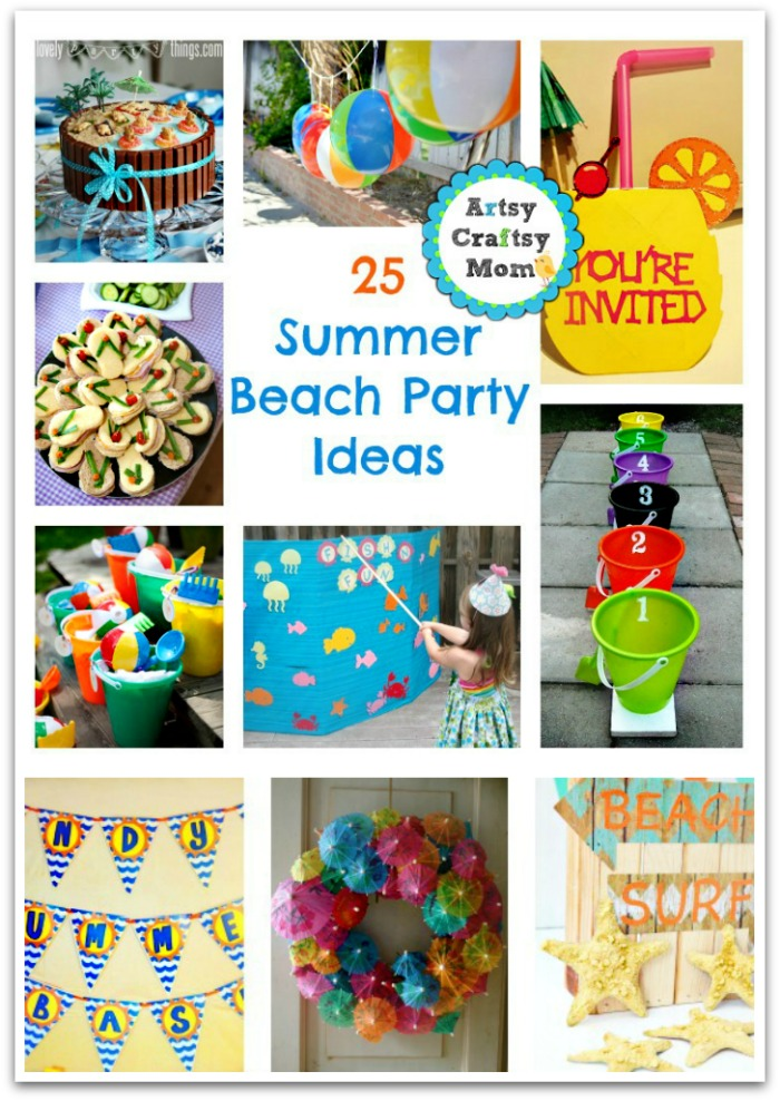 beach party craft ideas 25 summer ideas 3429