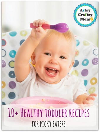 Toddler who loves her food, Kid Recipes for Picky Eaters , cheerful happy baby child eats itself with a spoon
