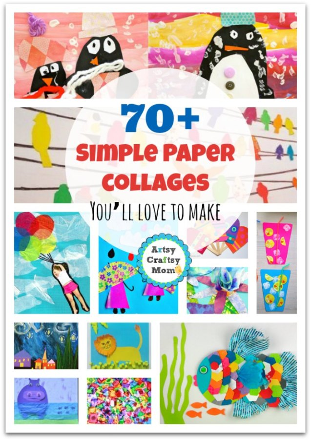 70+ Simple Paper collages You'll love to make1