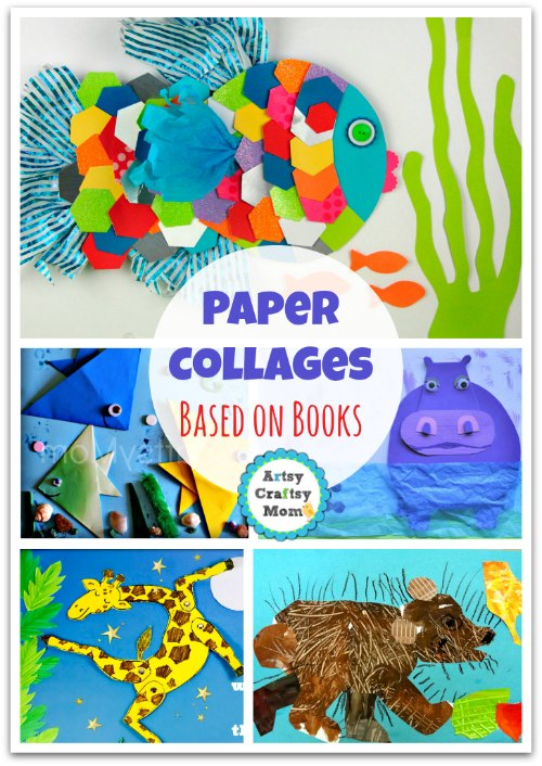 A Collection of 70+ Simple Paper collages that kids will love - A collection of craft ideas that kids can make at home. Frugal, Open-ended & a lot of fun. Make Fun animal collages, Spring, Summer & Collage art for the holidays too.