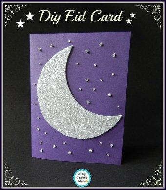 Crescent theme DIY Eid Card