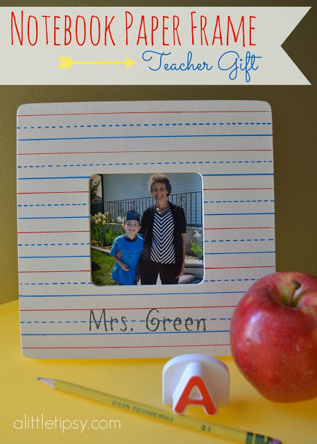 08-Notebook-Frame ArtsyCraftsyMom.com Teachers love cute handmade gifts from their students. Check out these 12 Useful Crafts For Teachers Day that Kids Can Make without too much time or effort!