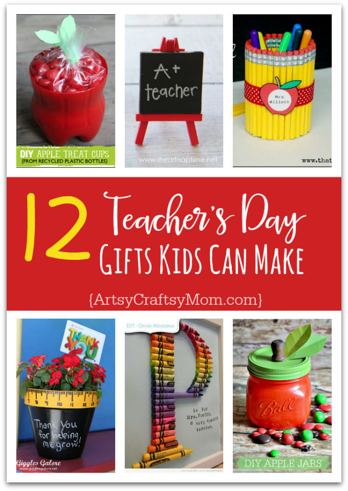 Teachers love cute handmade gifts from their students. Check out these 12 Useful Crafts For Teachers Day that Kids Can Make without too much time or effort!
