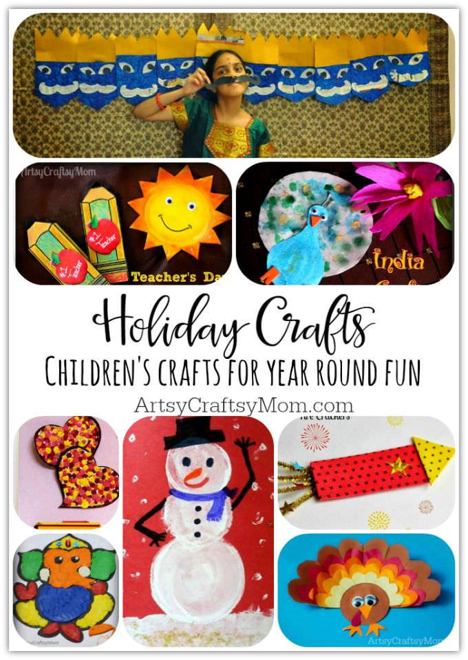 Holiday Crafts and activities for kids - Over 60 multinational festivals and holidays celebrated around the world featured on artsycraftsymom