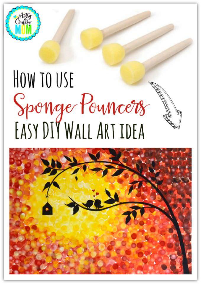 How to use Sponge Pouncers - Easy DIY Wall Art idea