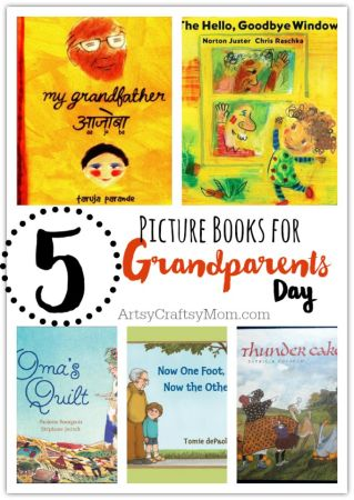 5 Picture Books for Grandparents Day + free printable