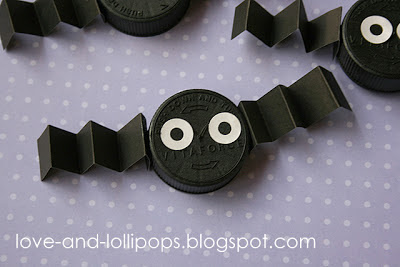 Bottle Top Bat - 10 Easy Halloween Bat Crafts for Kids - Bats Art Projects, Toilets Paper Roll Bats, Foam Bats. Hang around the house as October is Bat Appreciation Month