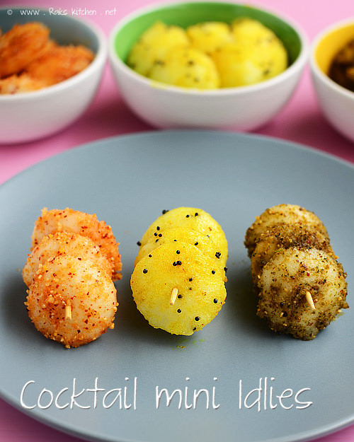 Mini-Idlis - Is your kid a picky eater? Try these 15 Recipes That Will Make Your Kids Love Vegetables again. Fun finger foods in an all new healthy vegetarian avatar. Pasta, kebabs, fries. perfect for school lunches