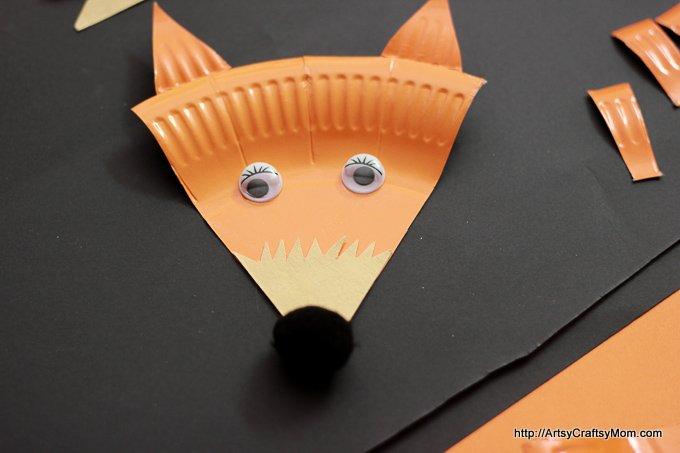 Paper Plate Mr Fox - roald dahl-6757