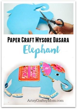 Mysore Dasara Elephant Paper Craft