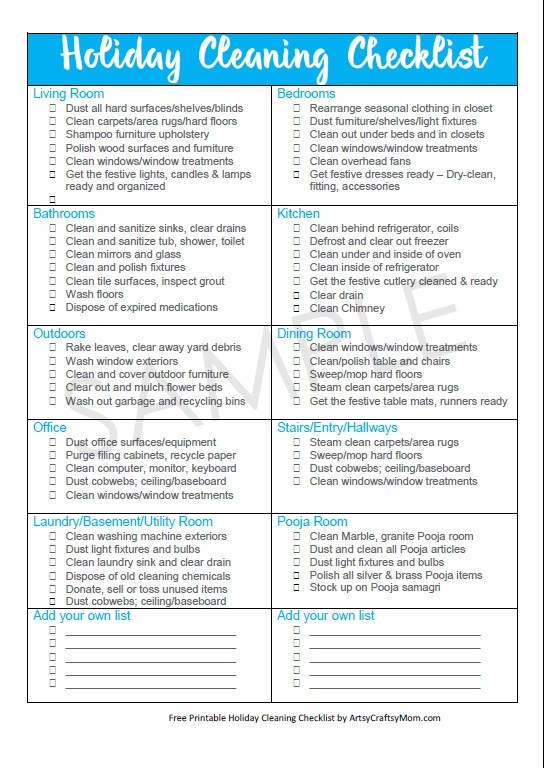 Holiday Cleaning Free Checklist For A Guest Ready Home