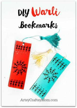 DIY Warli Bookmarks