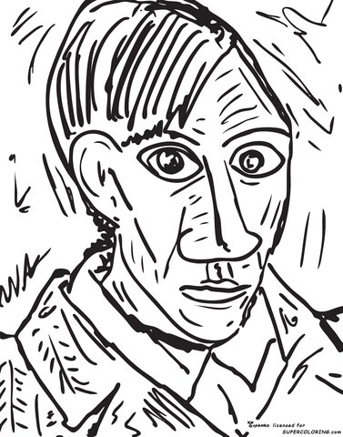 picasso coloring page printable