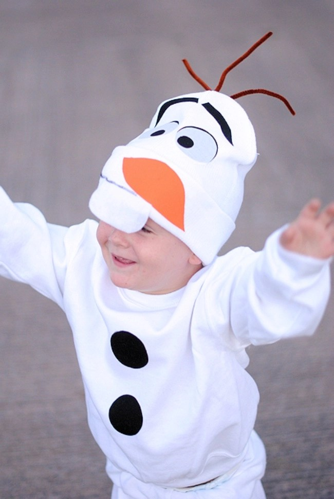 olaf costume for kids - Try these 21+ Last minute Halloween costume ideas that are both creative and easy and you can pull off in less than one hour. Minions, bandits, dolls and more