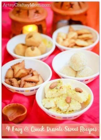 4 Easy & Quick Diwali Sweets Recipes