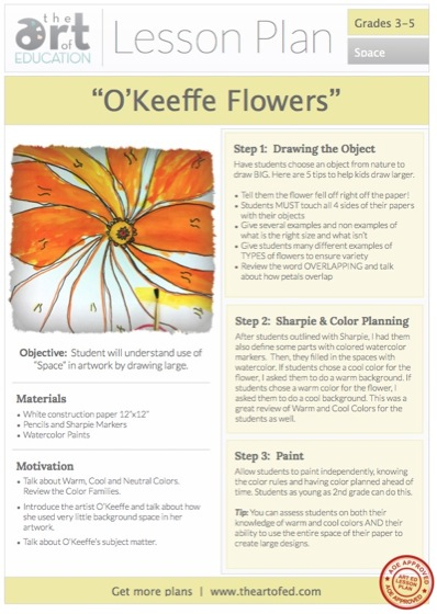 o'keeffe projects for kids