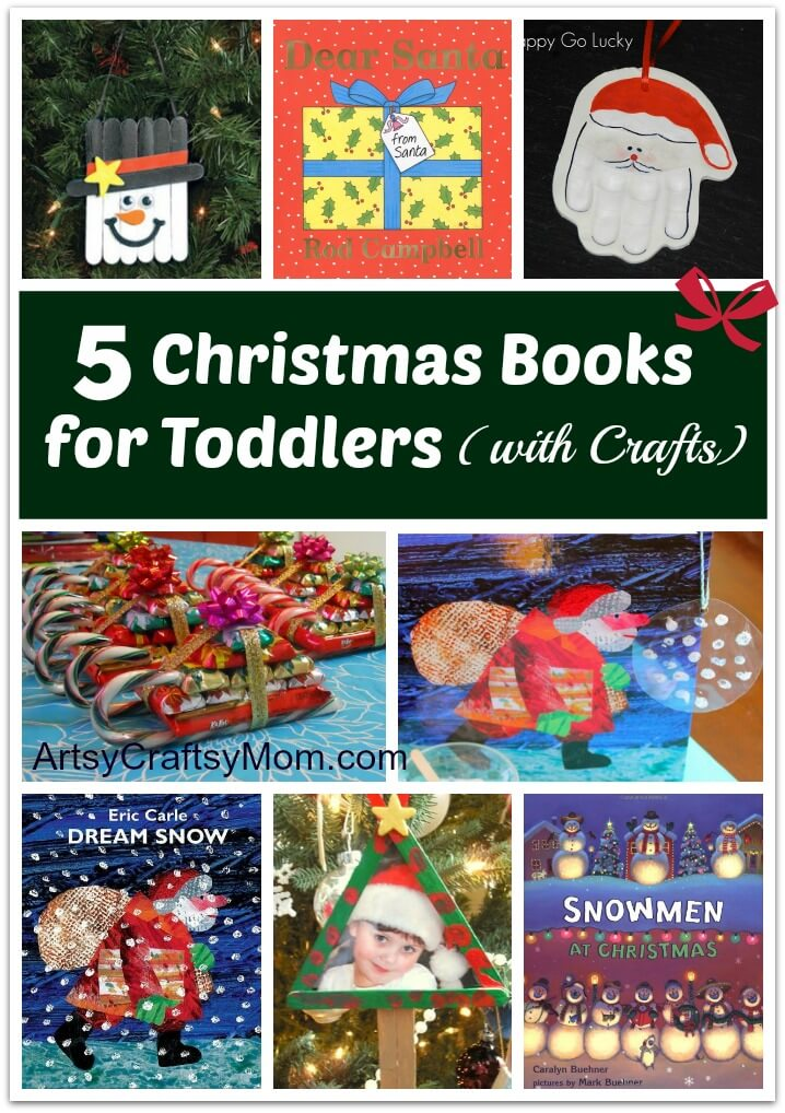 5 Christmas Books For Toddlers With Crafts Artsy