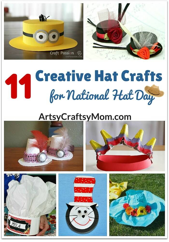 Who ever said that hats were out of style? Join your kids in bringing hats back with these creative hat crafts for National Hat Day.