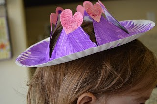 Princess hearts hat. Who ever said that hats were out of style? Join your kids in bringing hats back with these creative hat crafts for National Hat Day.