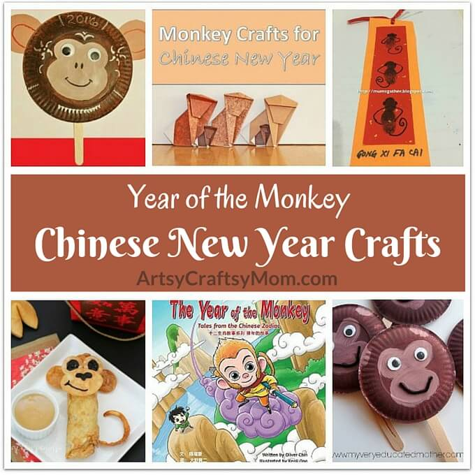 The Chinese New Year is about to start and it's the Year of the Monkey in 2016. Celebrate this occasion with some simple Chinese New Year Crafts for kids!