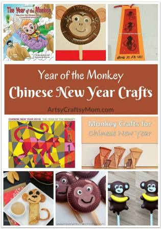 Year of the Monkey Chinese New Year Crafts