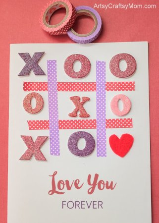 Super cute Tic-Tac-Toe XOXO Valentine Card