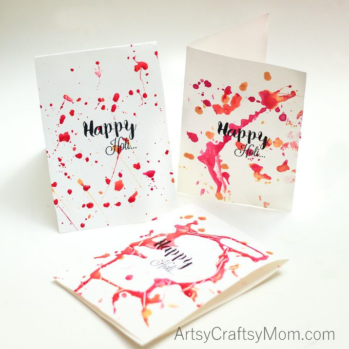 card making ideas for holi