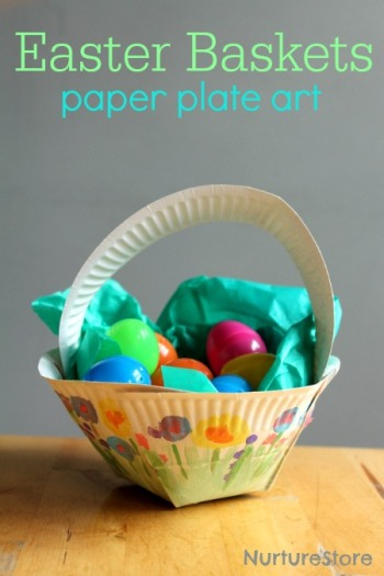 Paper Plate Easter Basket & 12 Adorable Paper Plate Easter Crafts