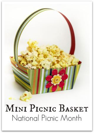 DIY Paper Picnic Basket with Free Template