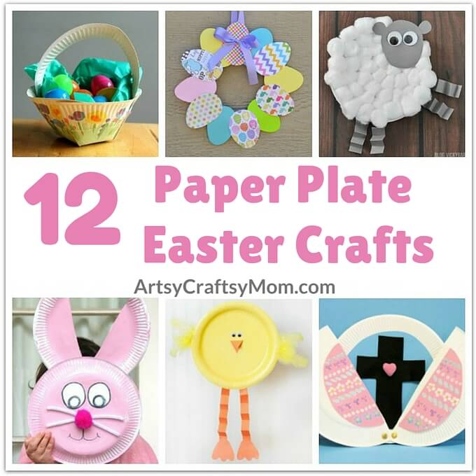 sc 1 st  Artsy Craftsy Mom & 12 Adorable Paper Plate Easter Crafts