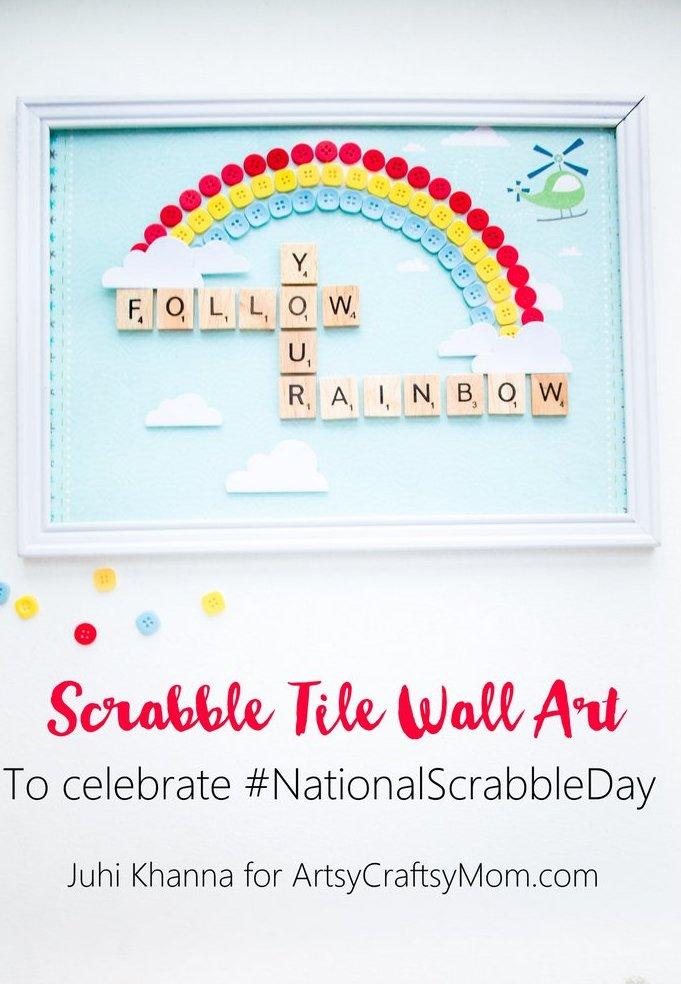 DIY Scrabble Tile Craft wall decor-001