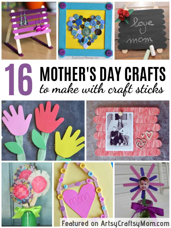 12 Mother S Day Crafts To Make With Craft Sticks Artsycraftsymom Com