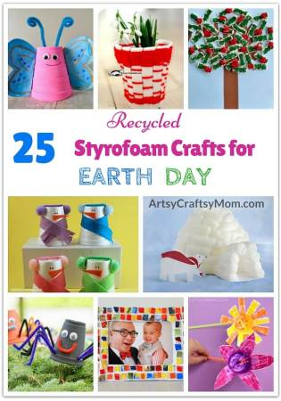 25 Recycled Styrofoam Projects for Earth Day