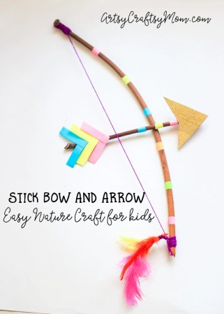 Stick Bow and Arrow Craft For Kids