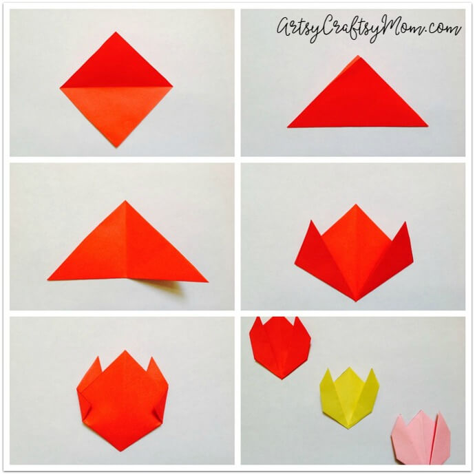 Easy origami tulip craft for kids artsy craftsy mom easy origami tulip craft for kids a perfect origami spring craft or even lovelier incorporated mightylinksfo