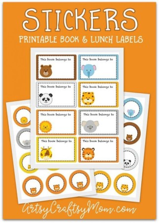 Be organized and ready for school with these really cute Printable Animal School Labels. Perfect for backpacks, lunch containers, pencil cases and so much more,