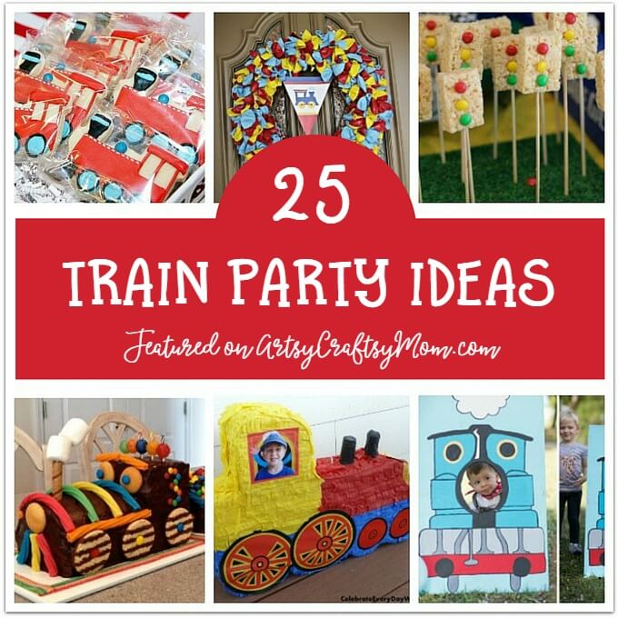 Kids love trains, which makes it a perfect theme for birthday parties! Check out our 25 awesome train party ideas for decor, food, cakes and more!