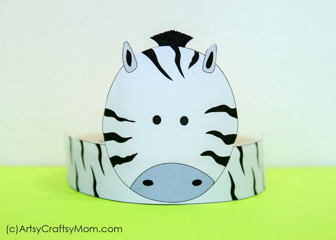 photo regarding Printable Cow Hat known as 12 Cute Animal Get together Printable Hats for a Jungle Get together