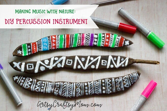 Take a break from those screens and go back to nature to make this lovely DIY Percussion Instrument using seed pods from the grand Gulmohar tree.