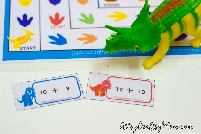 Common Core Math Board games with a dinosaur theme.