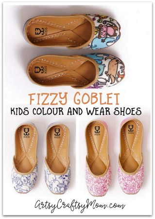 Fizzy Goblet - Kids Colour and Wear Shoes add the pop to the poppies, the fun to the funny animals and the fab to fabulous shoes . Buy a pair (or two) for yourself and your kid to unwrap on a rainy day, and get coloring.