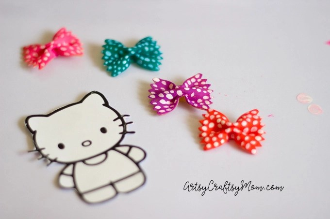 Hello Kitty Craft - Pasta Bookmarks-4
