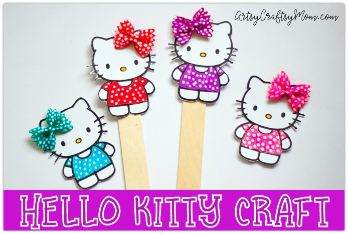 Super Cute Hello Kitty Craft Bookmark Using Pasta Free