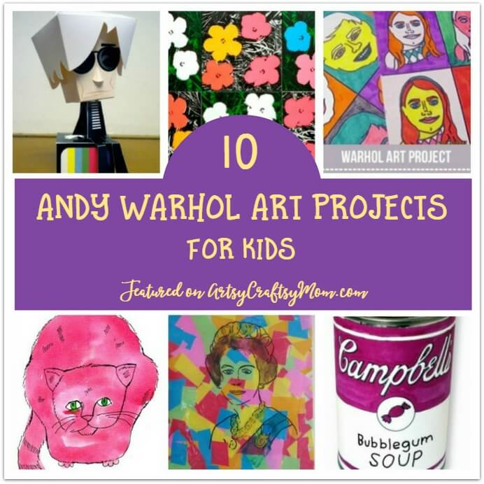 Artist Andy Warhol was an interesting individual and his works reflect his personal quirks! Learn more about him with some fun Warhol projects for kids.
