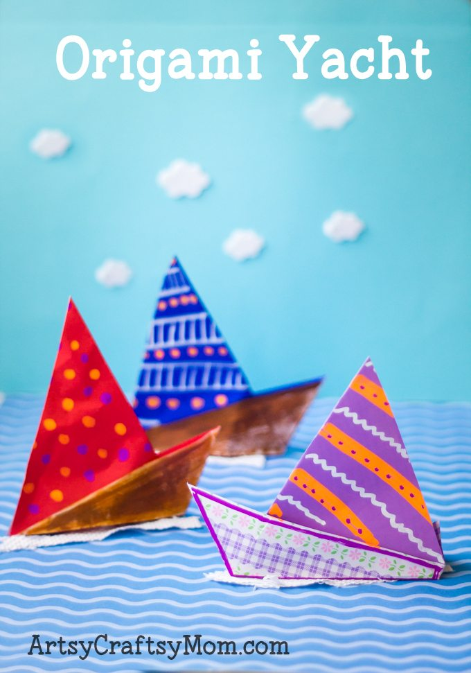 Easy Origami Yacht-pin